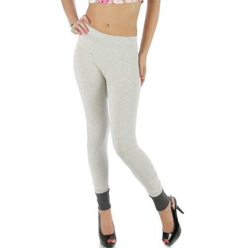 wholesale L43 Ankle accent cotton leggings Melange