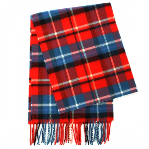 wholesale O73 Cashmere Feel Scarf Plaid 80304 Red Blue