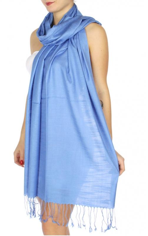 wholesale D01 Silky Light Wedding Pashmina 20 Sky Blue
