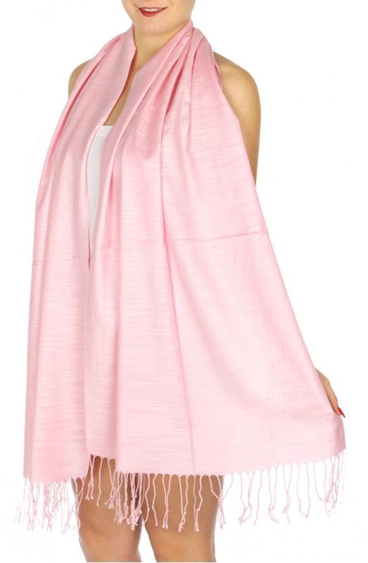 wholesale D01 Silky Light Wedding Pashmina 32 Baby Pink