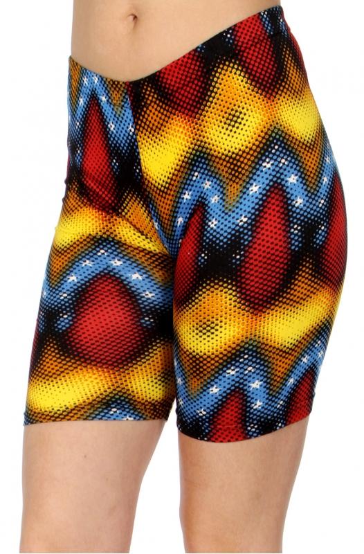 wholesale E41C Abstract wave softbrush bermuda leggings
