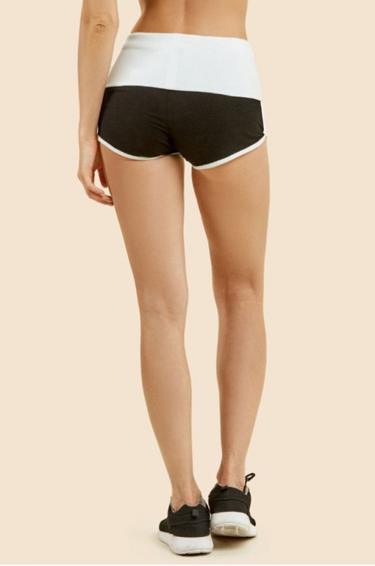 wholesale B12 Cotton dolphin shorts Black/H.Grey