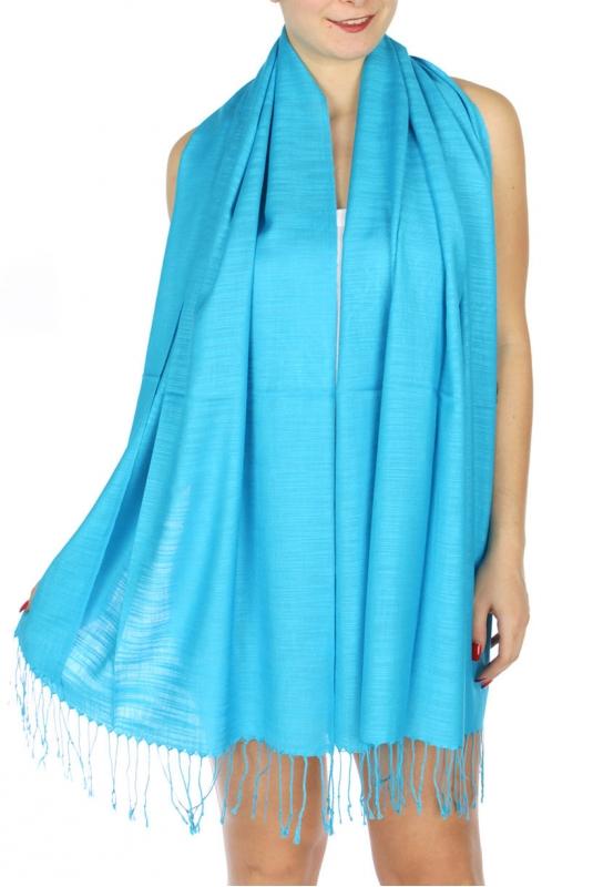 wholesale D01 Silky Light Wedding Pashmina 34 Turquoise