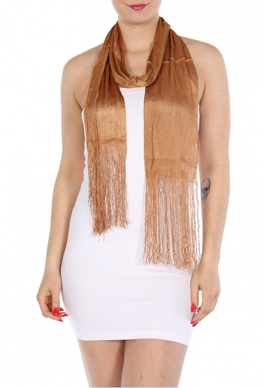 Wholesale I02 Solid long tassel scarf Beige