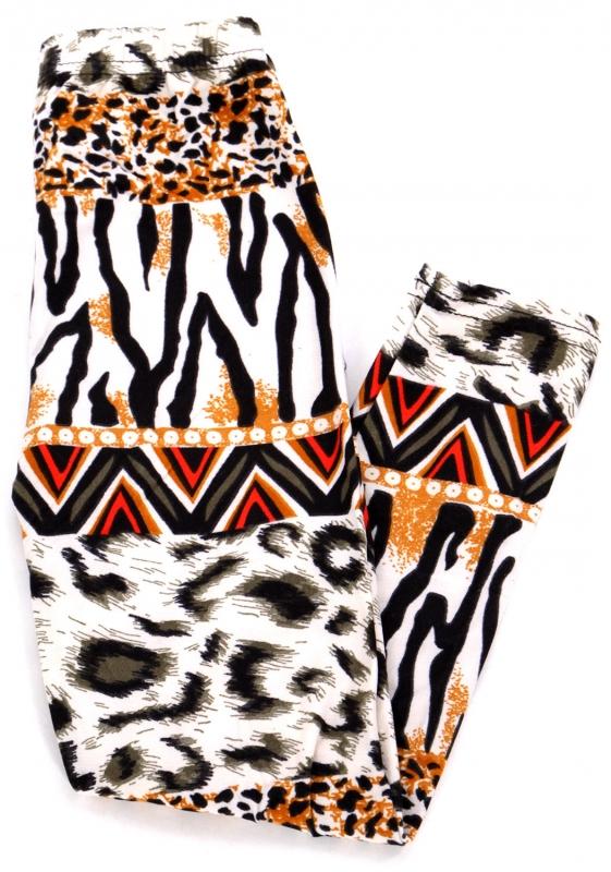 Wholesale A28 Horizontal animal print kids softbrush leggings