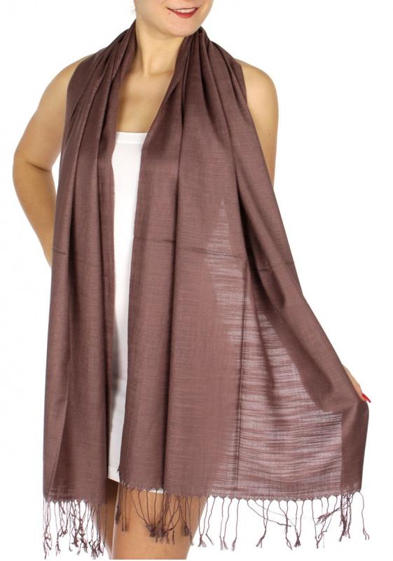 wholesale D01 Silky Light Wedding Pashmina 11 Purple GY