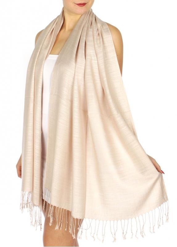 wholesale D01 Silky Light Wedding Pashmina 15 Blush