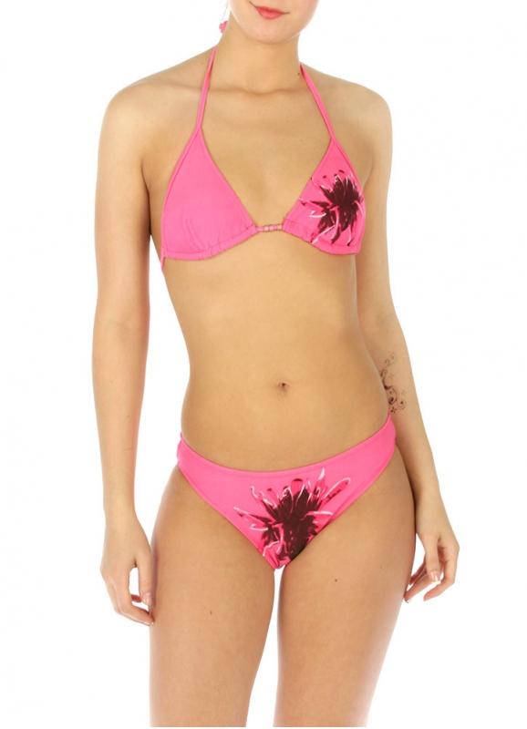 wholesale K77 Single flower bikini swimsuit Pink