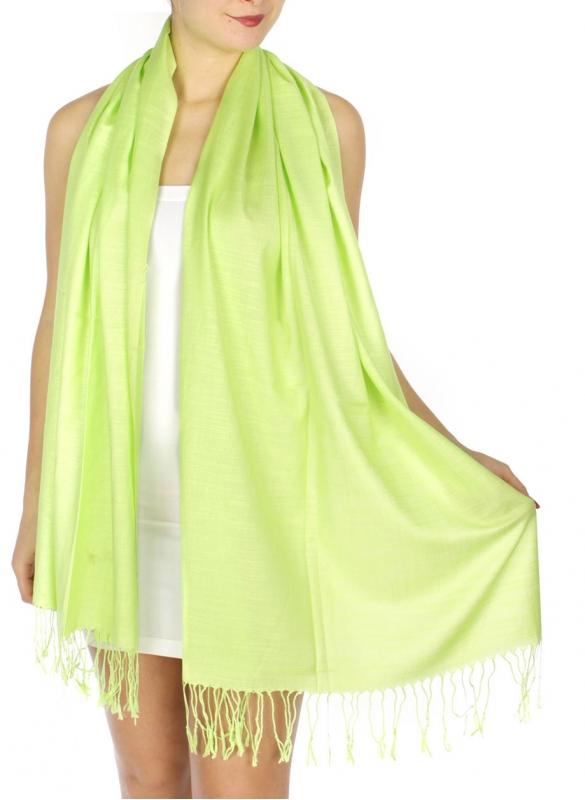 wholesale D01 Silky Light Wedding Pashmina 35 G Yellow N