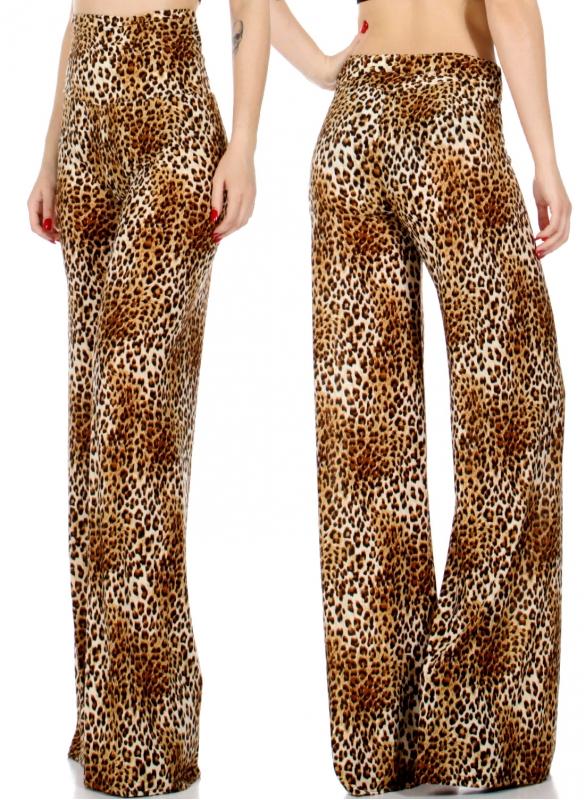 Wholesale P20 Cheetah palazzo pants