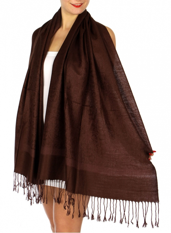 wholesale D37 Whole Jacquard Pashmina 99 Brown