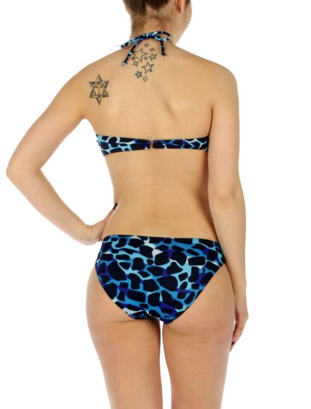 wholesale K18 Camouflage print one piece swimsuit Blue