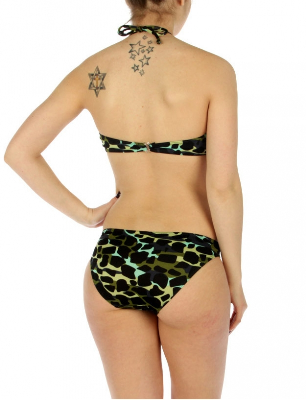 wholesale K18 Camouflage one piece swimsuit Green
