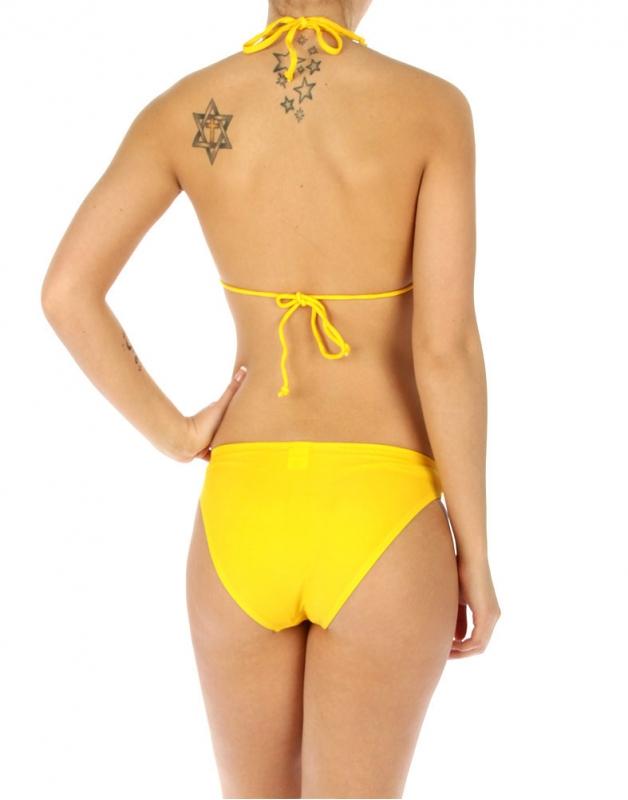 wholesale K77 Single flower bikini swimsuit Yellow