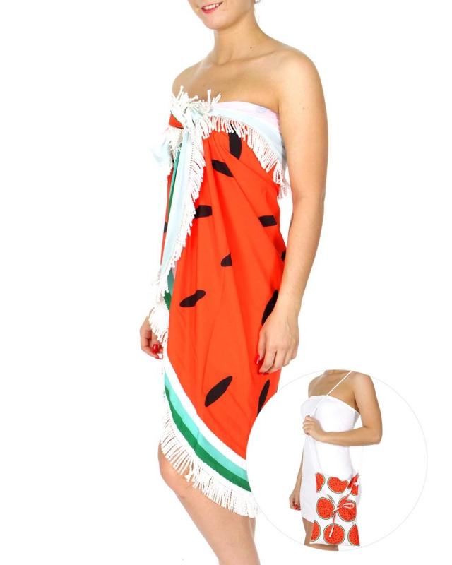 Wholesale N06E Watermelon print beach round wrap w/bag RD
