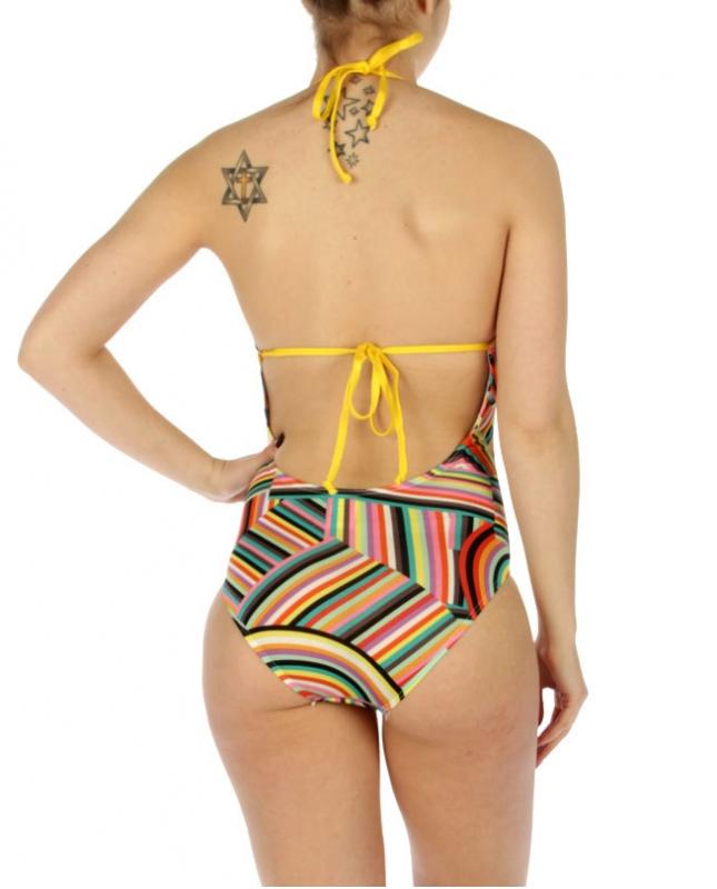 wholesale K18 Rainbow stripes swimsuit Multi color