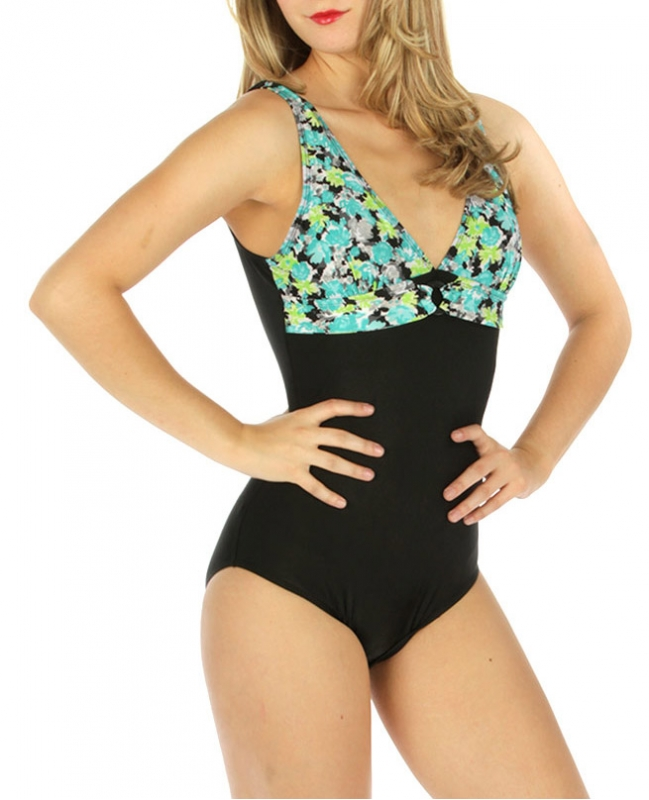 wholesale K24 Two tone one-piece swimsuit MN fashionunic