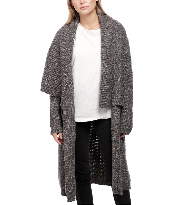 Wholesale Y28A Long open knit cardigan