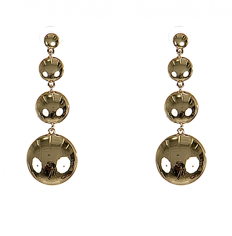 Wholesale WA00 Four metal balls drop earrings G