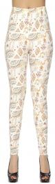 Wholesale F13C Triangle and elephant softbrush leggings one size