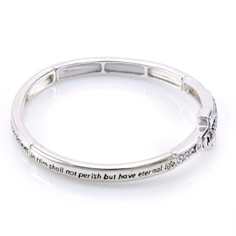 Wholesale M10E John 3:16 metal bracelet AS fashionunic