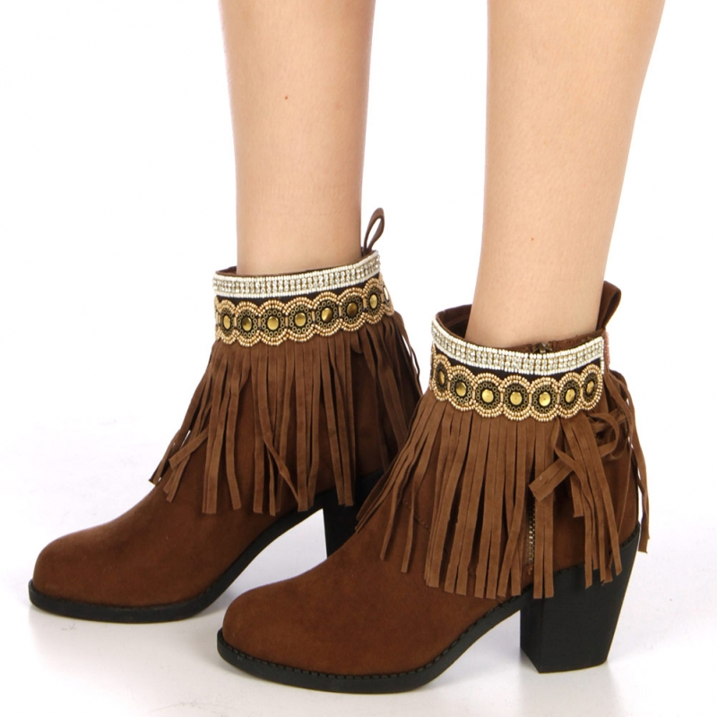 wholesale N36 Suede fringe anklet AGBW fashionunic