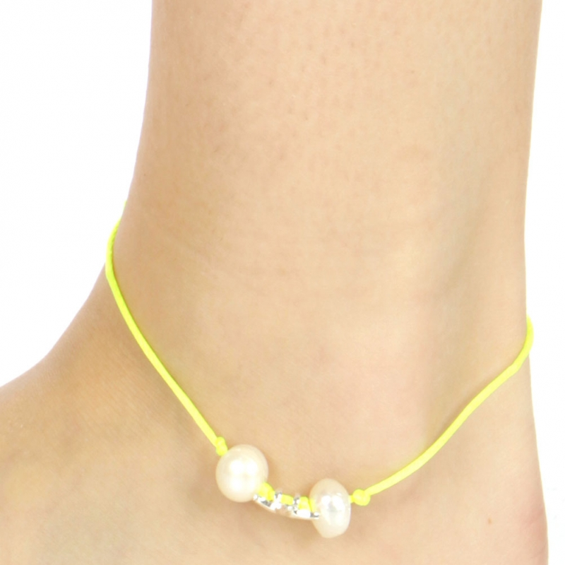 wholesale Starfish and faux pearls stretchable anklet SYPL
