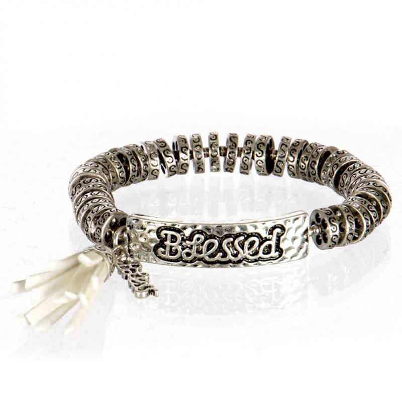 wholesale Metal blessed tassel stretch bracelet SB/IV