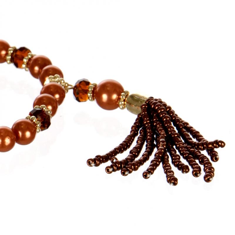 wholesale Tasseled multi beaded stretch bracelet GDBR