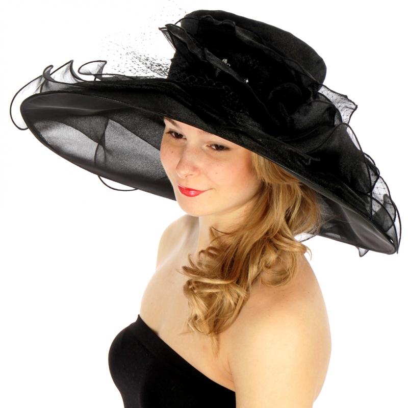 Wholesale BX80 Multi layer brim dress hat BK