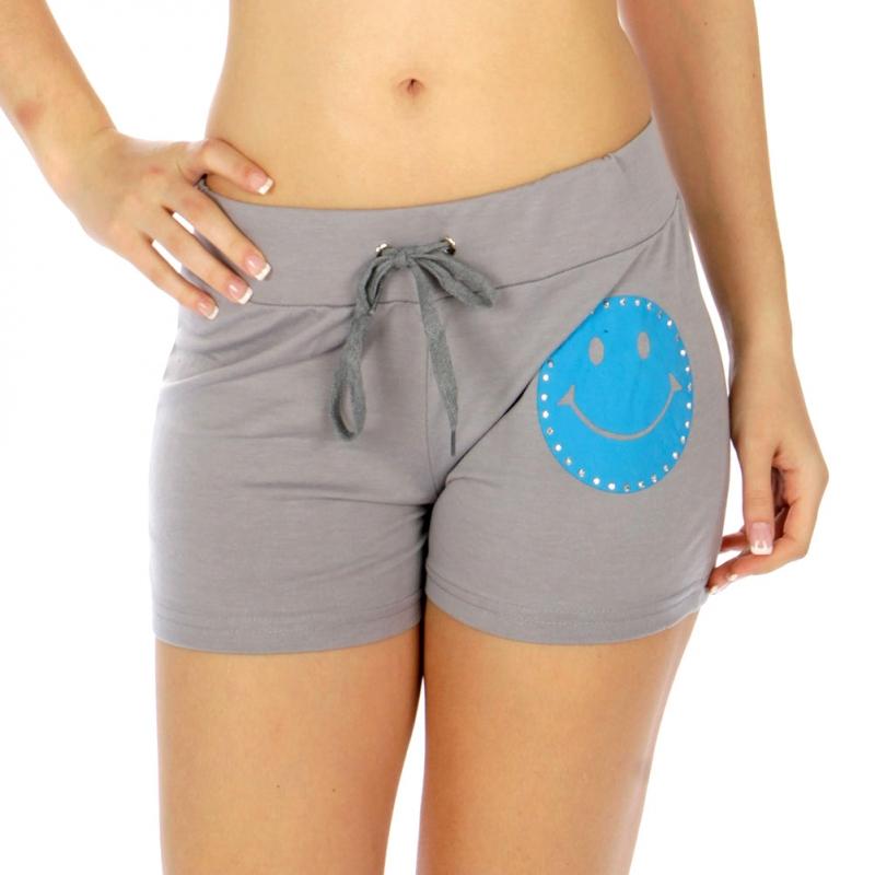 Wholesale M28 Cotton blend active shorts Smile Black