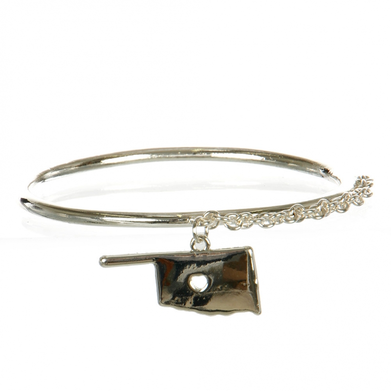 Wholesale L29B Oklahoma Map Classic Metal Bangle S