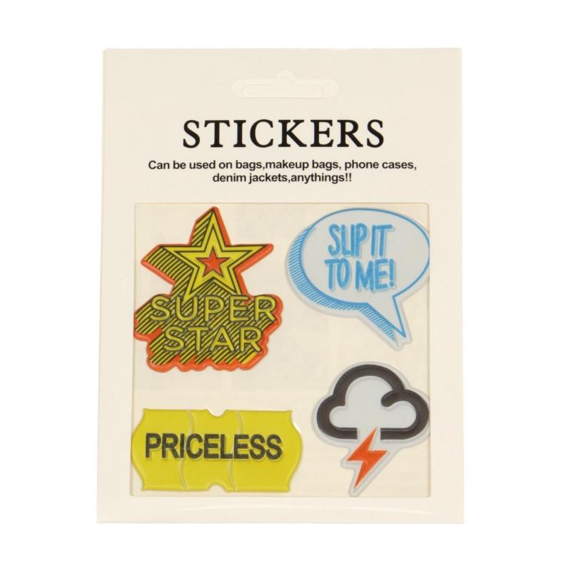 Wholesale WA00 SUPER STAR PU sticker set for clothes & accessories