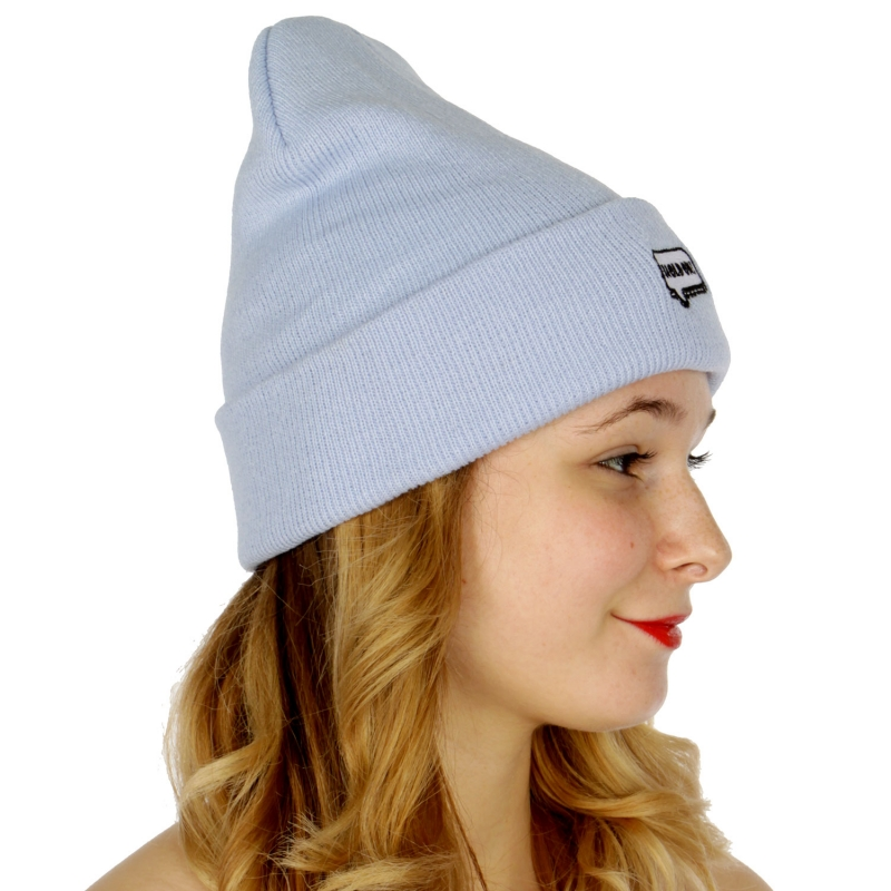 "Wholesale P27A ""Hold on"" embroidered beanie BL"