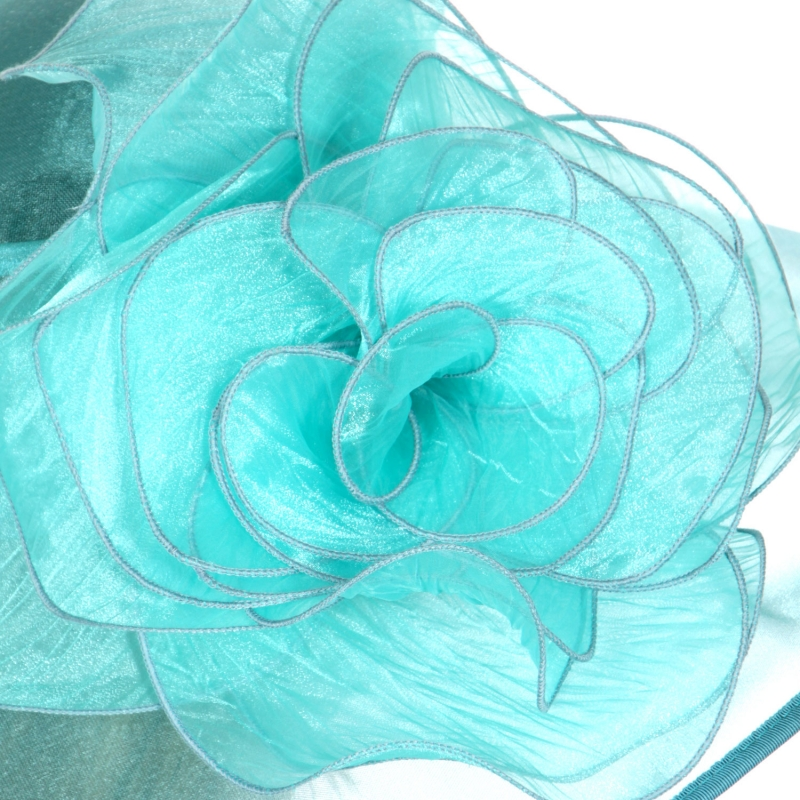 Wholesale TX10 Large flower dress hat Light Blue