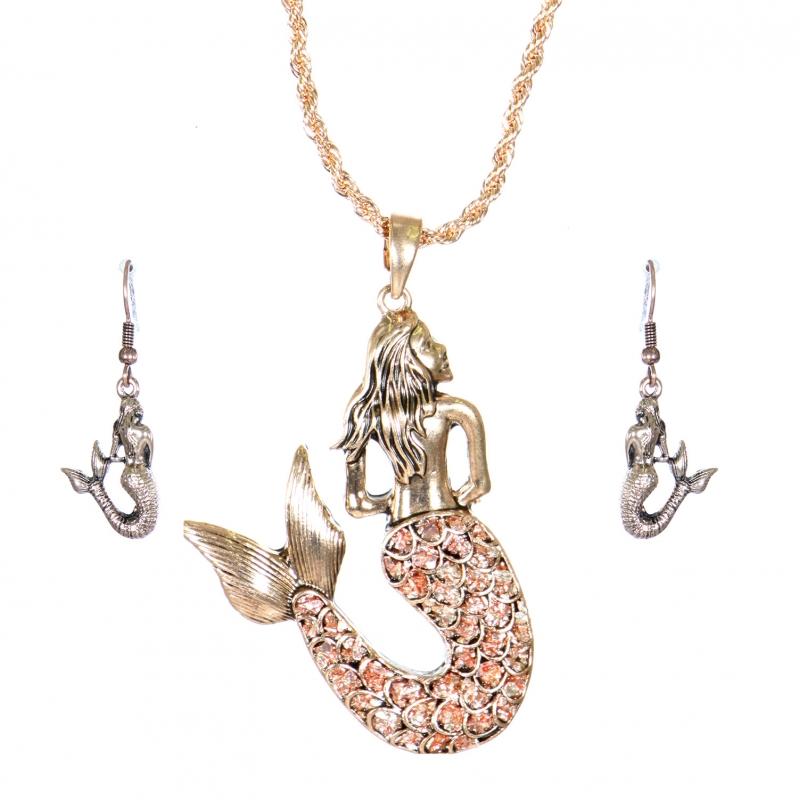Wholesale L05E Necklace set Mermaid #1 APG