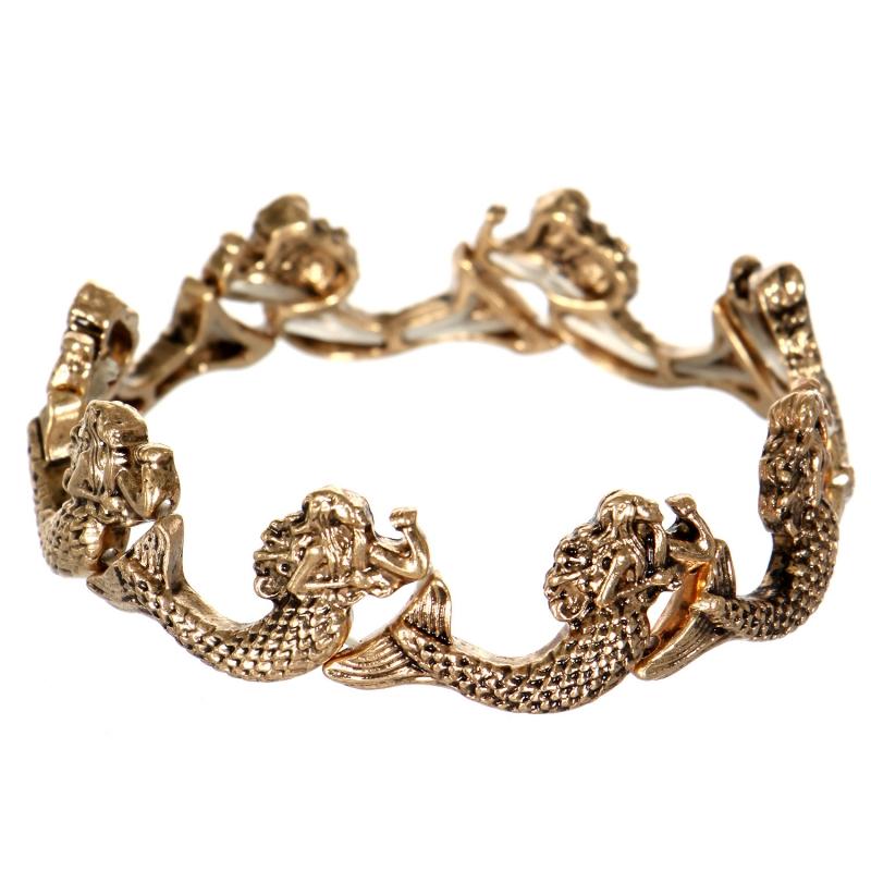 Wholesale WA00 Mermaid stretch bracelet GD