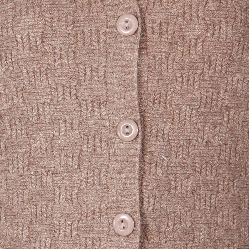Wholesale T11C Brushed V neck cardigan Taupe