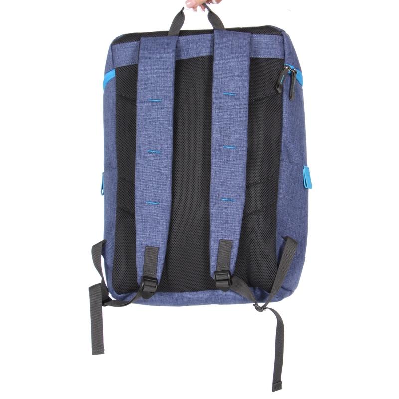 Wholesale U11B Laptop backpack Denim Blue/Sky Blue