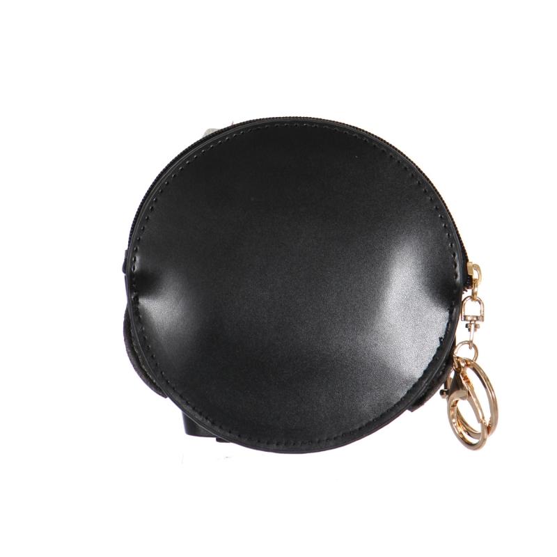 Wholesale O61 Sleepy owl keychain/coin purse BK