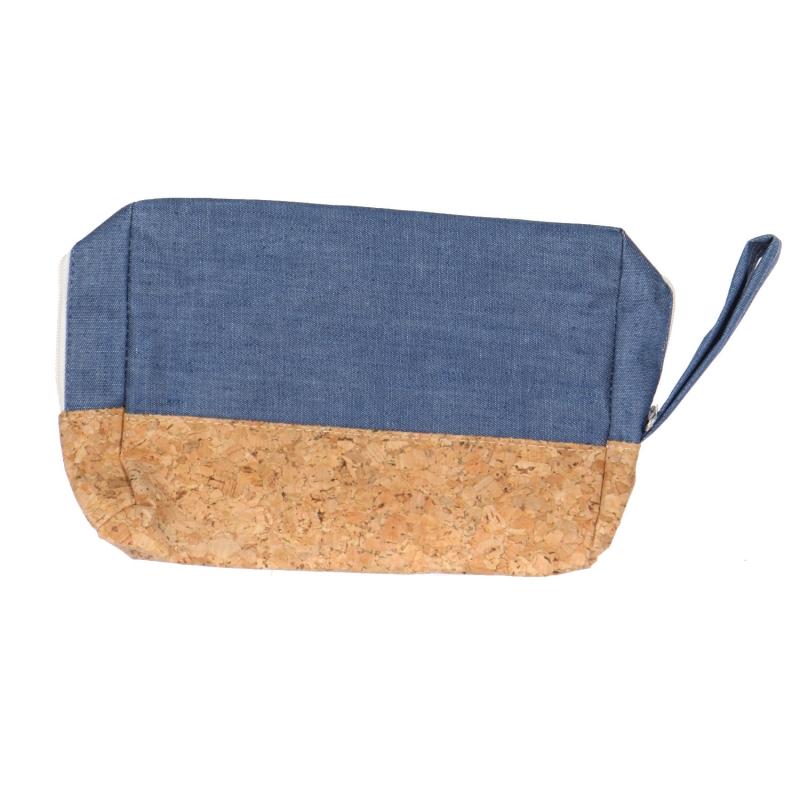 Wholesale T10B Cotton blend eco-friendly pouch with side handle BL