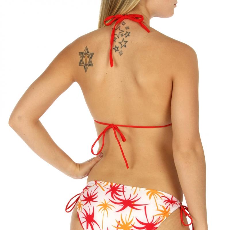 Wholesale K98 Palm tree string halter bikini Orange
