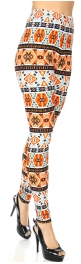 Wholesale Q59D NEW MIX soft brushed leggings Aztec PLUS SIZE