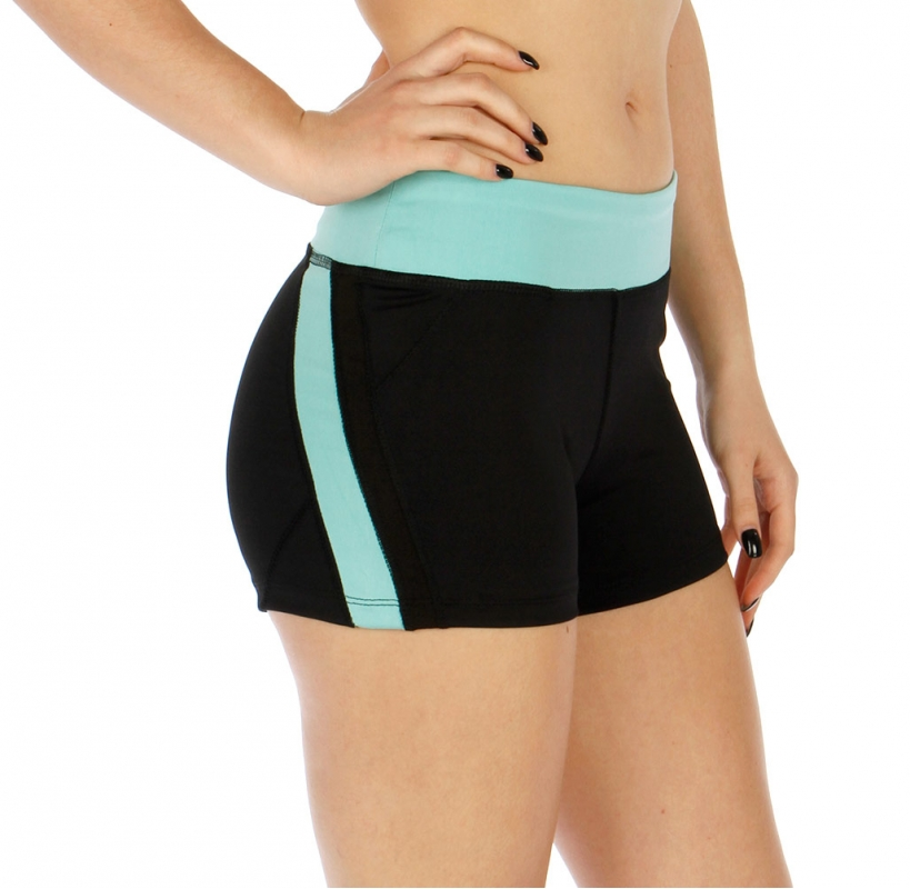 Wholesale O00 Colorblock zipped pocket active shorts Mint