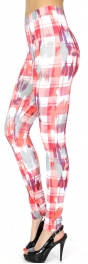 Wholesale C33A plaid & smudge print leggings