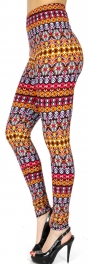 Wholesale Q85B Abstract aztec print Leggings