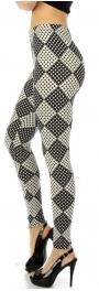 wholesale Q64 Diamond fleece junior leggings S/M