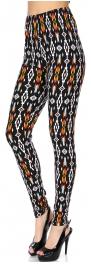 Wholesale Q50B NEW MIX print vertical tribal softbrush leggings PLUS SIZE
