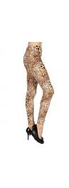 wholesale Q65 Leopard words soft brush velour leggings