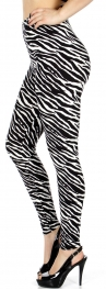 Wholesale C43A Zebra print softbrush leggings PLUS SIZE